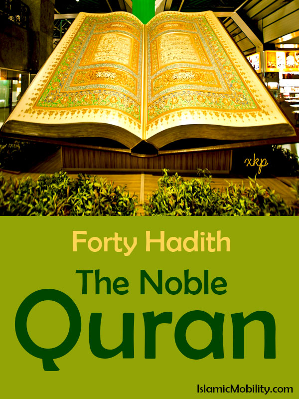 Forty Hadith The Noble Quran