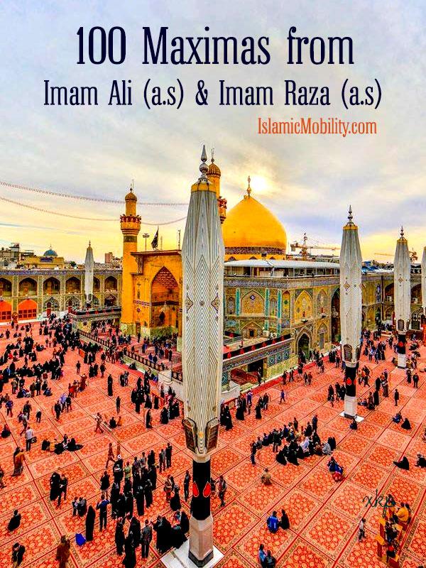 100 Maximas From Imam Ali as and Imam Raza as